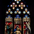 The mosaic window in cathedral of Saint-Jean, Lyon, France. — Stock Photo #8883141