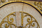 Calendar clock to the Cathedrale St.Jean in Lyon, France — Stock Photo