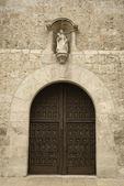 Door to the Santa Clara church, Valladolid, Spain — Stock Photo