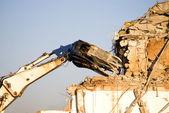 Machine of demolition work — Stock Photo