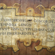 Latin text — Foto de Stock