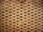 Texture the metallic floor — Stock Photo