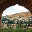 Albayzin desde la alhambra — Stock Photo