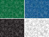 Chemistry background - seamless pattern molecule models — Stock Vector