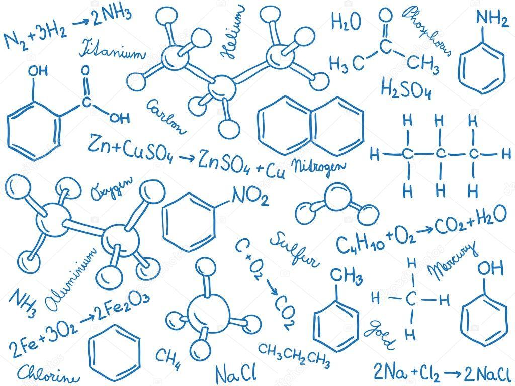 有关化学的手绘图片