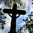 Christian cross against the sky — Stock Photo #10454592
