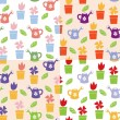 Gardening background seamless pattern — Vector de stock #10630717