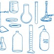 Royalty-Free Stock Imagen vectorial: Science laboratory equipment  - doodle style