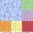 Yogposes collection - background seamless pattern — Stok Vektör #8712206