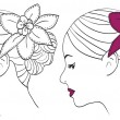 Royalty-Free Stock Vector Image: Women with flower in hair