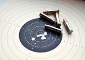 Target and ammunition — Stock Photo