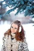 Portrét dívky, hezká zrzka — Stock fotografie