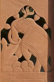 Carved elephant — Stock Photo