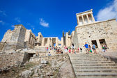The gateway of Acropolis, Athens, Greece — Stock Photo