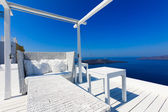 A nice luxury hotel in Fira, Santorini, Greece — Stock Photo