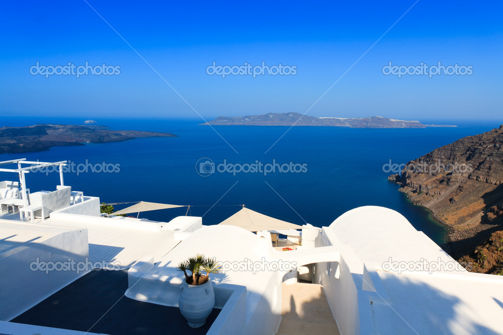 A nice luxury hotel in fira santorini greece stock for Luxury hotels in nice
