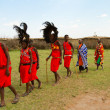 Group of kenyof Masai tribe — Foto de stock #8758548