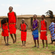 A group of kenyan of Masai tribe — Stockfoto