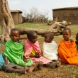 A group of lovely kenyan children of Masai - Stock Photo