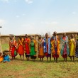 A group of kenyan women of Masai tribe — Stock Photo #8758554