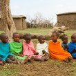 Group of kenychildren of Masai tribe — Stock Photo #8758560