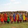Stock Photo: Group of kenywomen of Masai tribe
