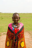 A kenyan woman of Masai tribe — Stock Photo