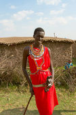 A kenyan young man of Masai tribe — Stock Photo