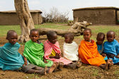 A group of lovely kenyan children of Masai — Stock Photo