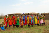A group of kenyan women of Masai tribe — Stock Photo
