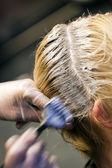 Colorring włosów — Zdjęcie stockowe