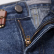 Zip in a jeans — Stock fotografie
