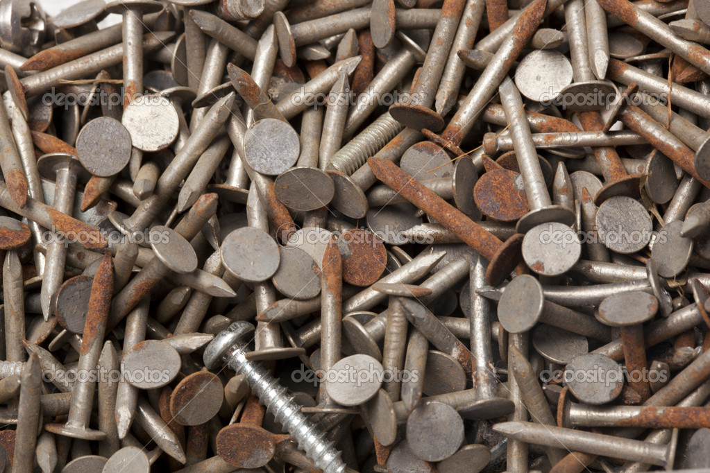 Macro of rusty nails  Stock Photo #8715194