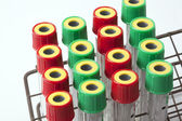 Blood tubes — Stock Photo