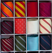 Tie in a display — Stock Photo