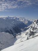 Snow mountain from top of titlis — Stock Photo
