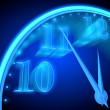 Neon clock — Stock Photo #8953660