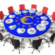 Stock Photo: Negotiating table
