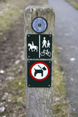 Hiking Path Signs — Stock Photo