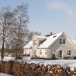 Farmhouse in the Snow — Stock Photo