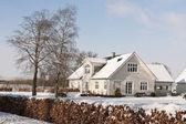 Farmhouse in the Snow — Stock Photo
