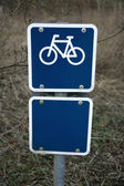 Blue Bicycle Sign — Stock Photo