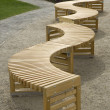 Curvy Benches — Stock Photo