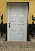 Grey Basement Door — Stock Photo