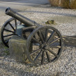 Stock Photo: Old Cannon on Wheels