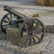 Old Cannon on Wheels — Stock Photo