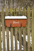 Mail Box in the Snow — Stock Photo