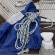 Rope on Sailing boat - Stock Photo