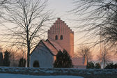 Danish Church in the Sunset — Stock Photo