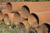 Rusty Steel Pipes — Stock Photo